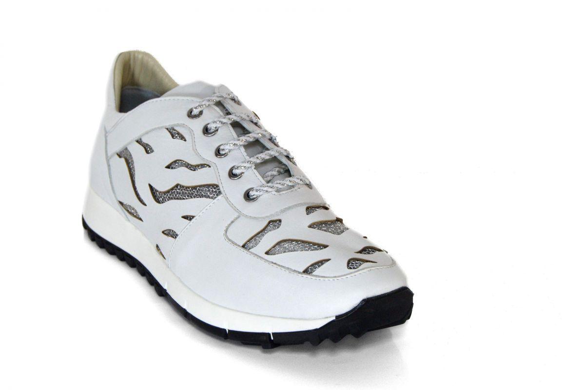 """kožená a atestovaná obuv Sportovně laděné bílé boty """"Marcellashoes"""" 3651 s perforací"""