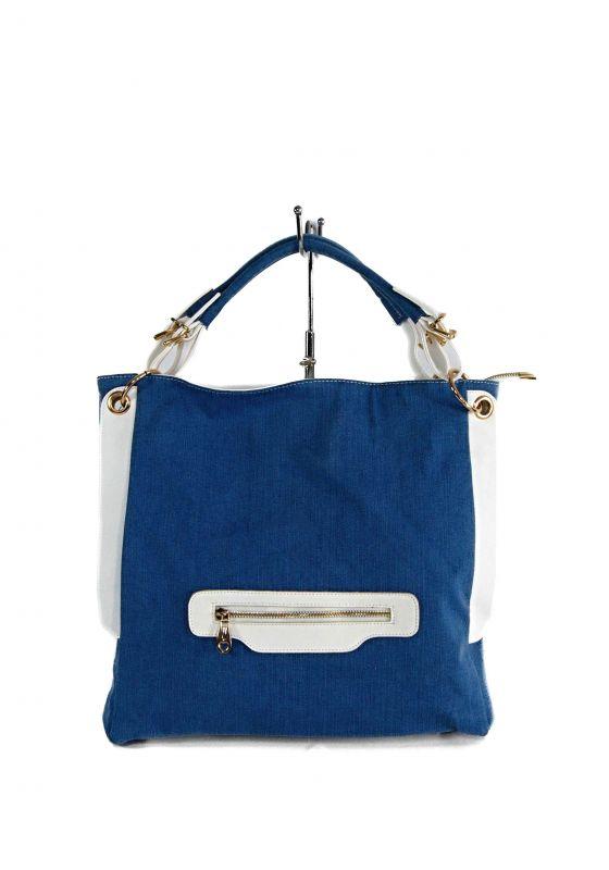 kožená a atestovaná obuv Dámská kabelka ze světle modré džínoviny kombinovaná s imitaci kůže Facebag