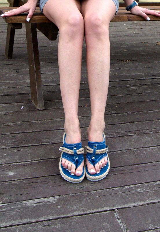 kožená a atestovaná obuv Jeans – žabky REVANDA Starbluemoon