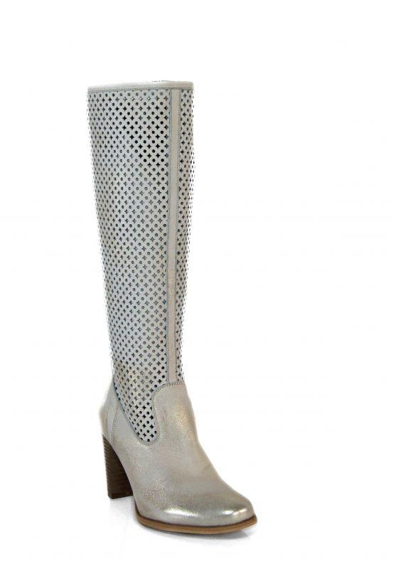 """kožená a atestovaná obuv Kozačky 0777 s perforací ,, větší dírkování ○ a ◊ """" Exquisite"""