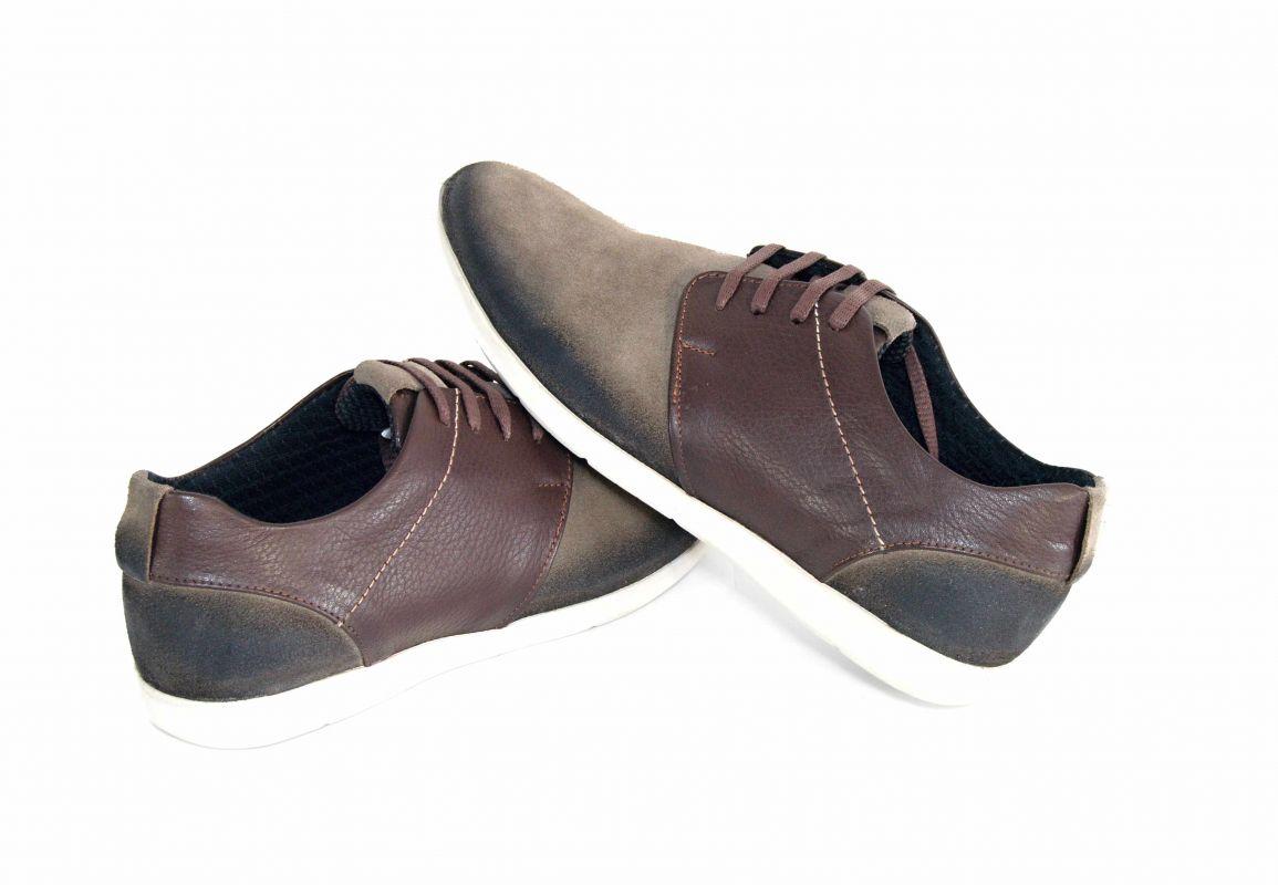 """6c56a89ef0 kožená a atestovaná obuv Pánské béžové polobotky """"GCC"""" 1647 s bílou podešví"""