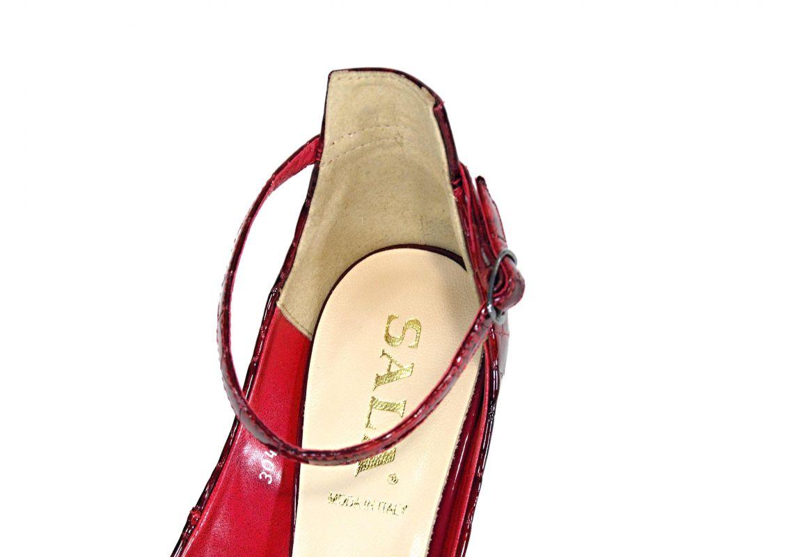 c54caeaed32 kožená a atestovaná obuv Luxusní dámské vínové sandály na vysokém podpatku  - 3042 SALA