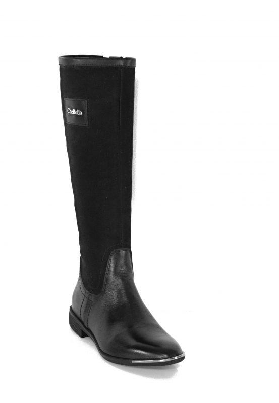 """kožená a atestovaná obuv Luxusní dámské zimní kozačky """"CheBello"""" 2108 černé"""