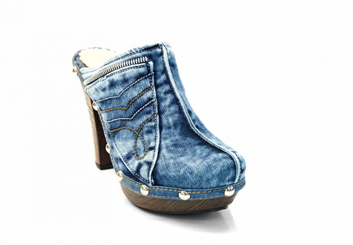 5882ab59fff kožená a atestovaná obuv Riflové pantofle 07.10.17613 na sloukovitém podpatku  Emani