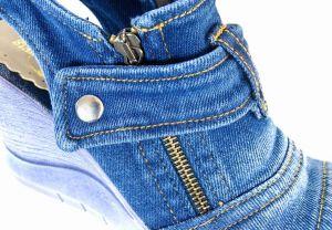 """kožená a atestovaná obuv Originální sandále """"JEANS"""" na klínku 952 Starbluemoon"""