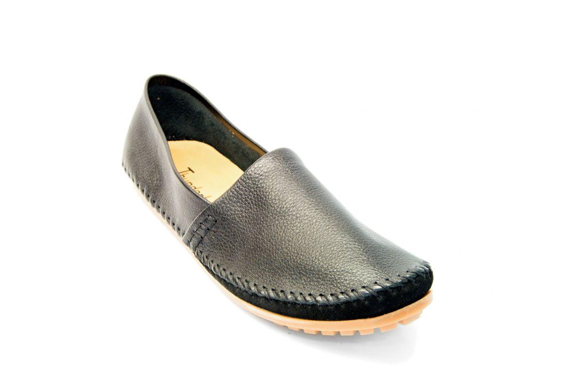 kožená a atestovaná obuv Panské kožené mokasíny 1091 černé Thunderhead