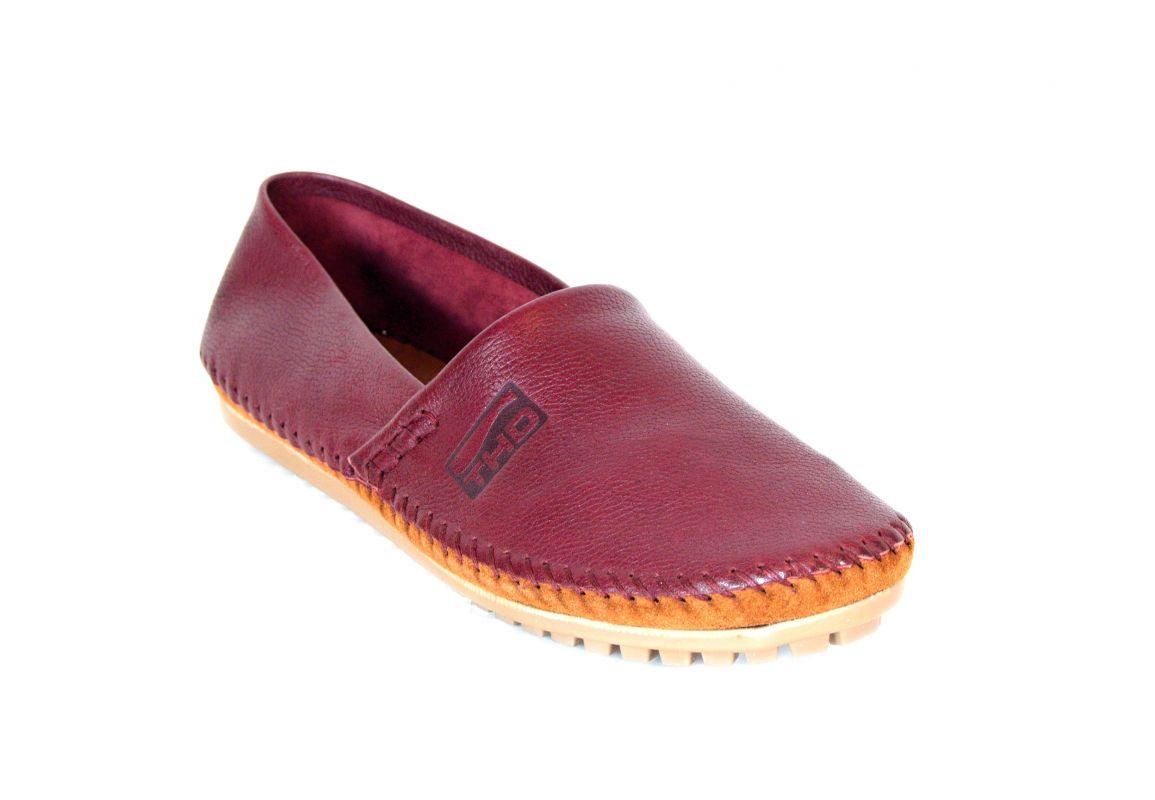kožená a atestovaná obuv Panské kožené mokasíny 1091 bordo Thunderhead