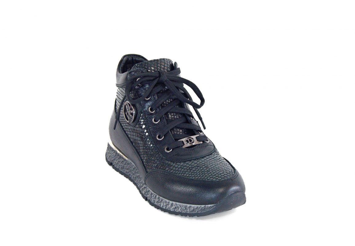 kožená a atestovaná obuv Podzimní kotníčkové kožené boty 0121 zateplené Dessy shoes