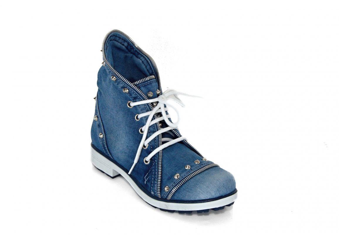 kožená a atestovaná obuv Riflové kotnikové boty Star Bluemoon 5030 Starbluemoon