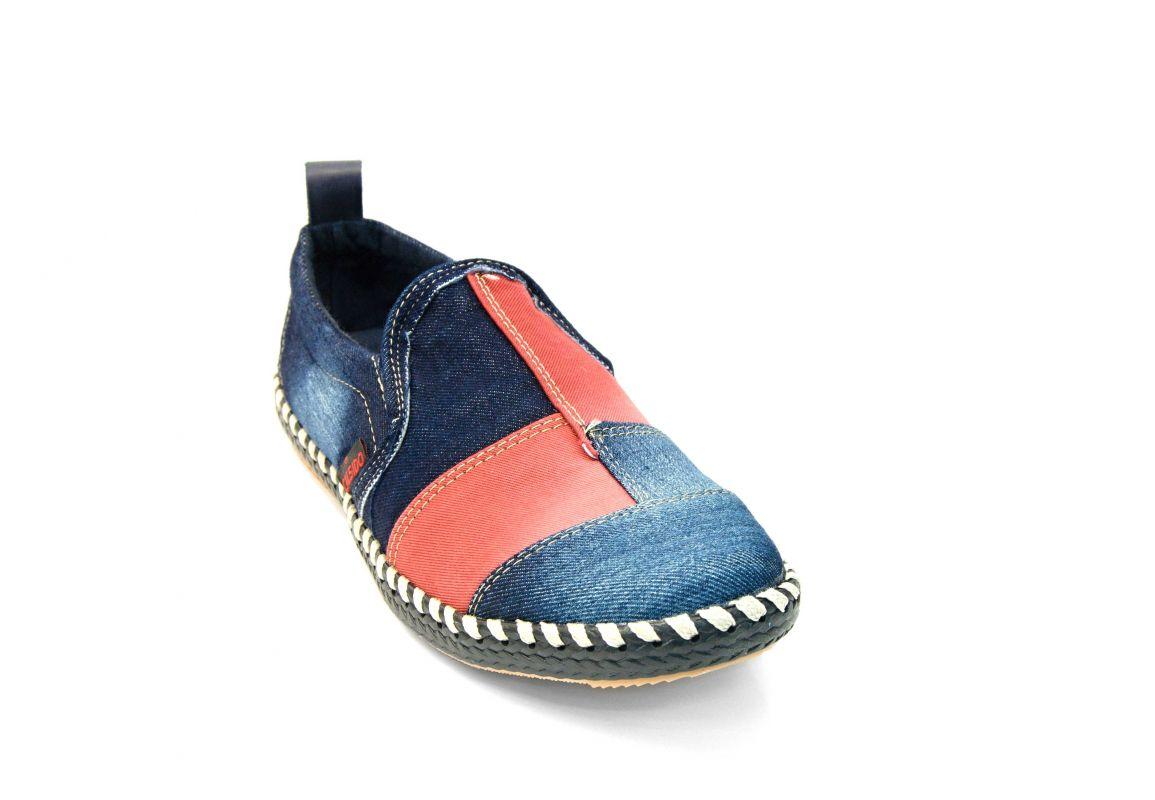 kožená a atestovaná obuv Riflové pánské mokasíny 840 Calsido