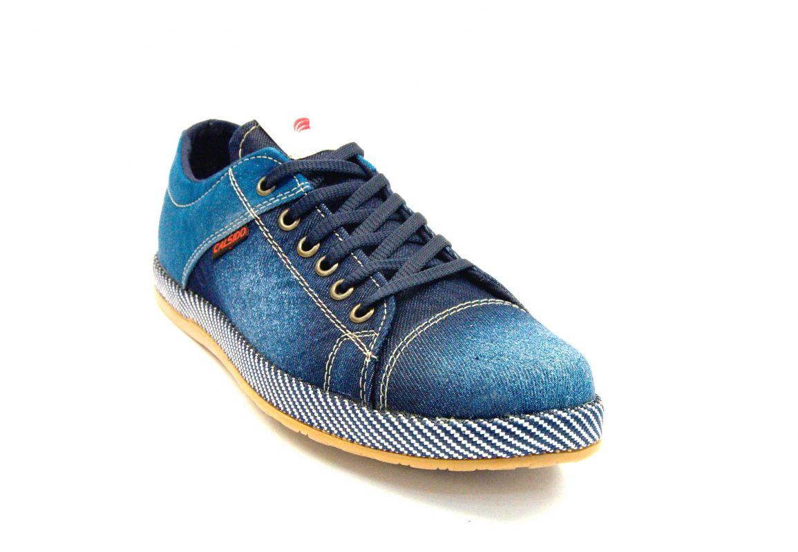 kožená a atestovaná obuv Riflové pánské tenisky 2010 Calsido
