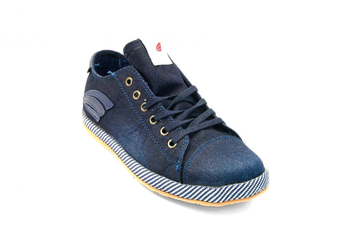 kožená a atestovaná obuv Pánské sportovní boty Jeans 2000 s rovnou podrážkou Calsido