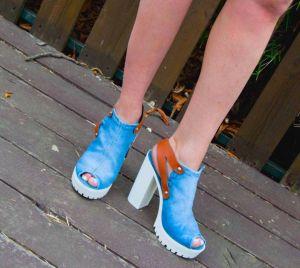 Riflové sandále Emani 5052 na širokém podpatku