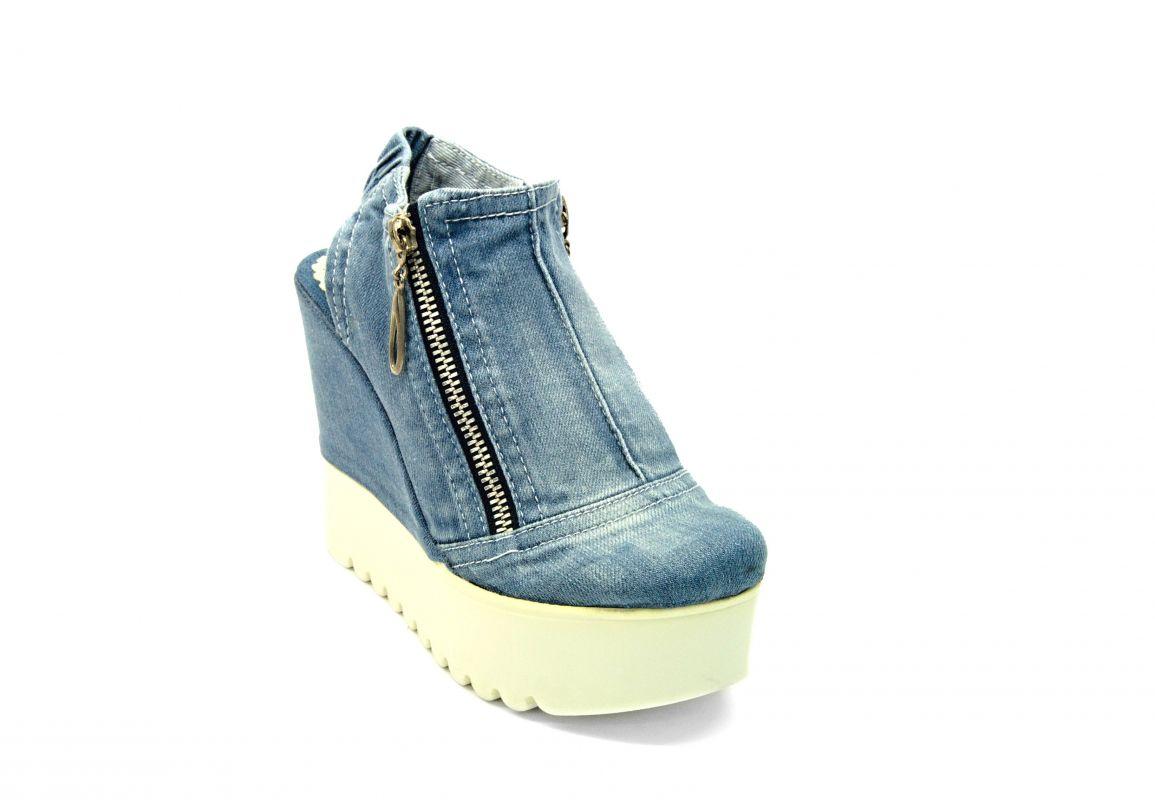 """730685952a43 kožená a atestovaná obuv Džínové sandály """"STAR BLUEMOON"""" 759 s bílou  platformou Starbluemoon"""