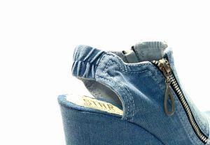 """kožená a atestovaná obuv Džínové sandály """"STAR BLUEMOON"""" 759 s bílou platformou Starbluemoon"""