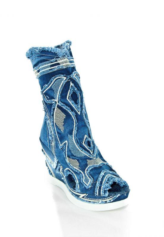 kožená a atestovaná obuv Riflové polokozačky Bluemoon 4049 A Starbluemoon