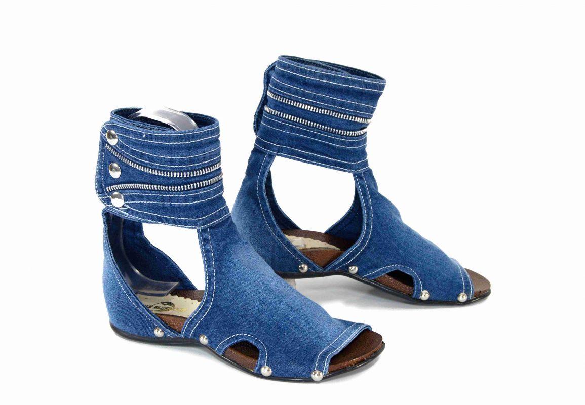 9919b882be1c kožená a atestovaná obuv Riflové koníkové sandálky SANDRA s otevřenou  špičkou StarBluemoon