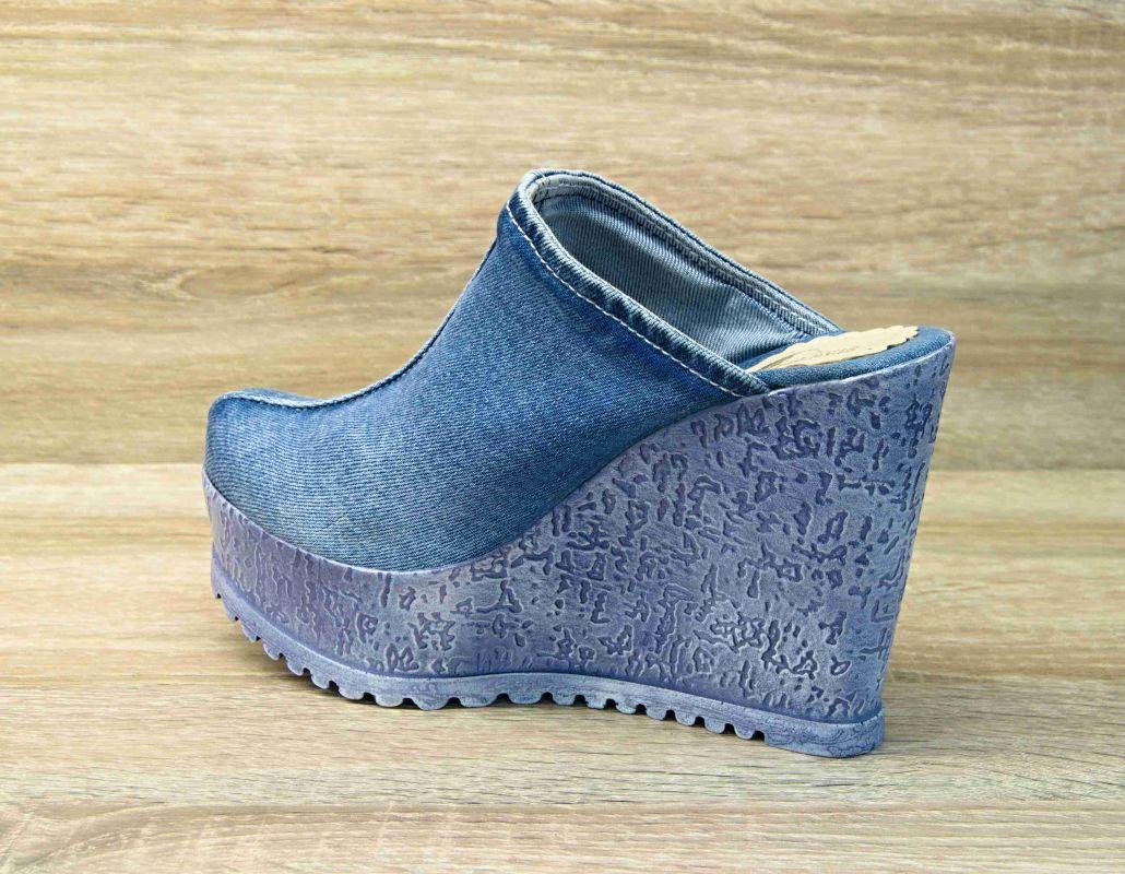 536e8099118e kožená a atestovaná obuv Riflové sandálky SIENA na klínu a platformě  Starbluemoon