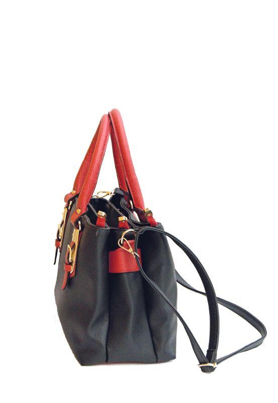 kožená a atestovaná obuv Černá luxusní kabelka z imitace kůže CMR CMREMRE
