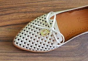 kožená a atestovaná obuv Kožené baleríny Reda 064
