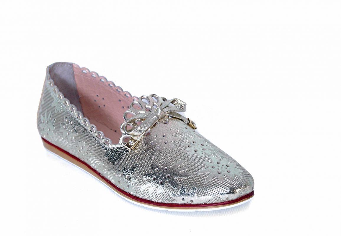 """kožená a atestovaná obuv Dámské kožené baleríny """"Marcella"""" 1304, zlaté"""