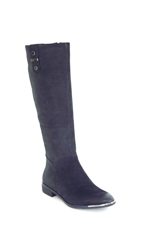 """kožená a atestovaná obuv Luxusní dámské zimní kozačky """"CheBello"""" 2102, černé - nubuk"""
