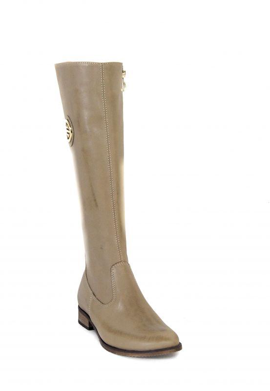 kožená a atestovaná obuv Luxusní zimní kozačky s perforací 0 -11 Bežové Roberto