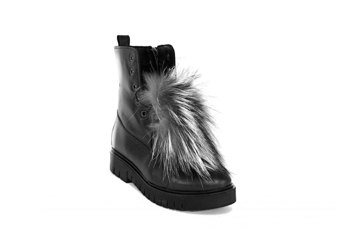 """kožená a atestovaná obuv Stylové zateplené kotníčkové boty """"Doctorshoes"""", 3321 s kožešinkou Doctor Shoes"""