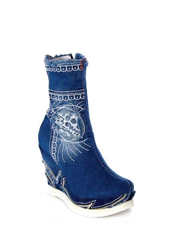 kožená a atestovaná obuv Riflové polokozačky Bluemoon 4046 Starbluemoon
