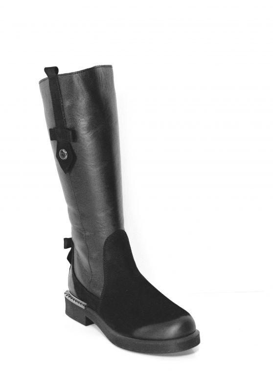 """kožená a atestovaná obuv Originální model kozaček """"Marcella"""" 943, černé"""
