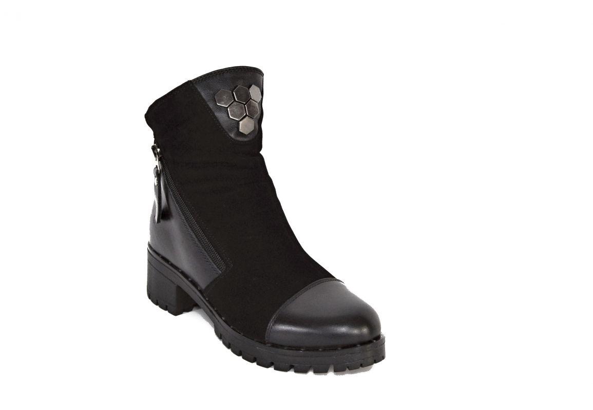 kožená a atestovaná obuv Kožené zateplené kotníkové boty Merhaba 65-05 Di Lusso Italy