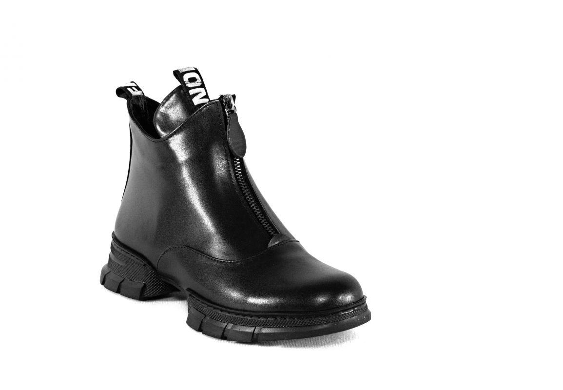 """kožená a atestovaná obuv Černé zimní kotníčkové boty """"Emani"""" 494-K Marcella"""