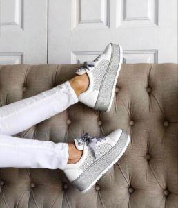 kožená a atestovaná obuv Dámské ALPINO luxusní tenisky 19YA-433, bílé
