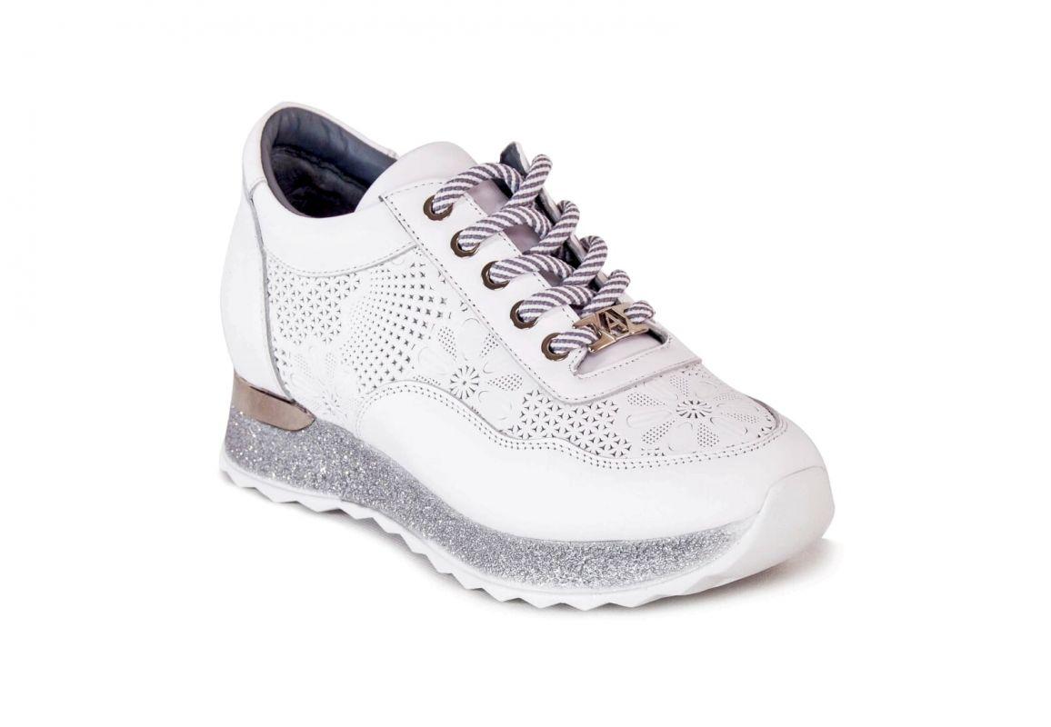 kožená a atestovaná obuv Dámské ALPINO luxusní tenisky 19YA-344, bílé