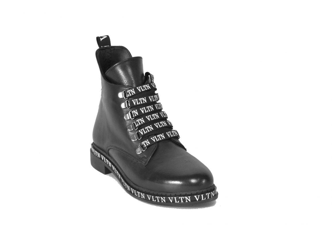 """kožená a atestovaná obuv Dámské zateplené kotníčkové kožené boty s potiskem """"558"""", černé Emani"""