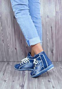 """kožená a atestovaná obuv Džínové kotníkové boty """"Star Bluemoon"""" 816 modré Starbluemoon"""