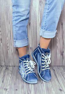 """Džínové kotníkové boty """"Star Bluemoon"""" 816 modré"""