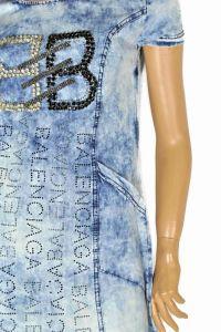 "kožená a atestovaná obuv Džínové šaty s krátkým rukávem ""1BB"" Starbluemoon"