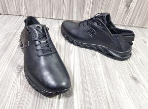 kožená a atestovaná obuv Kožené pánské sportovní boty 4141, černé Gattuso