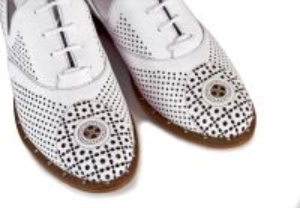 kožená a atestovaná obuv Luxusní dámské polobotky Marcella 645, bílé