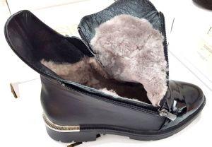 """kožená a atestovaná obuv Dámské zateplené kotníčkové kožené boty """"Marcella 1015"""", černé"""