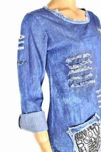 "kožená a atestovaná obuv Originální džínové šaty ""4917"" Starbluemoon"