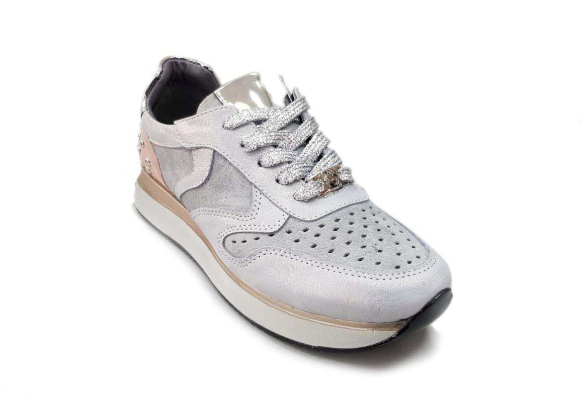 """kožená a atestovaná obuv Originální džínové tenisky """"Alpino"""" 19YA-150 s přidáním malého klínku, šedé"""