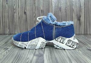 """kožená a atestovaná obuv Originální Jeans tenisky """"823"""" na zajímavé platformě Starbluemoon"""