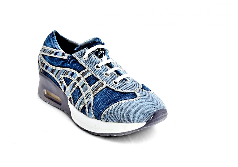 """kožená a atestovaná obuv Originální Jeans tenisky """"STAR BLUEMOON"""" s bílomodrou nápaditou podrážkou 8132 Starbluemoon"""