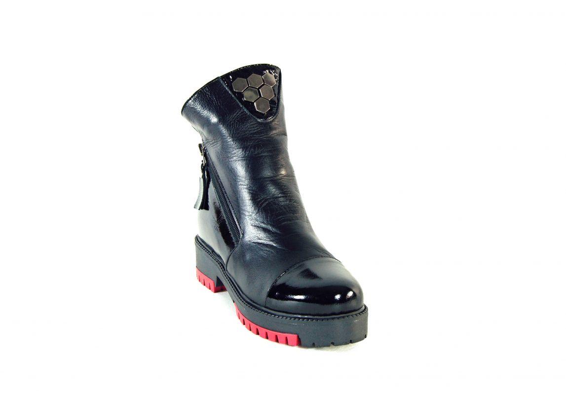 """kožená a atestovaná obuv Originální zimní kotníčkové boty """"Emani"""" 022, černé"""