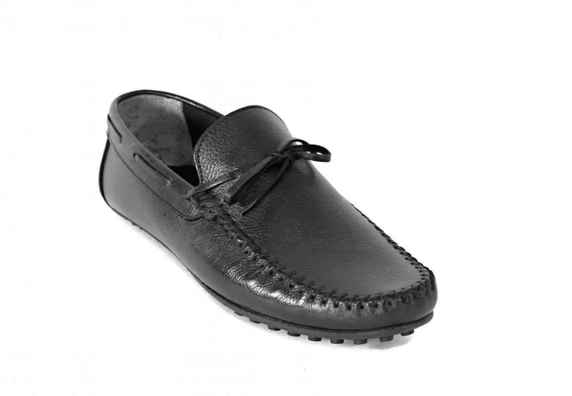 kožená a atestovaná obuv Panské kožené mokasíny 1096 černé Thunderhead