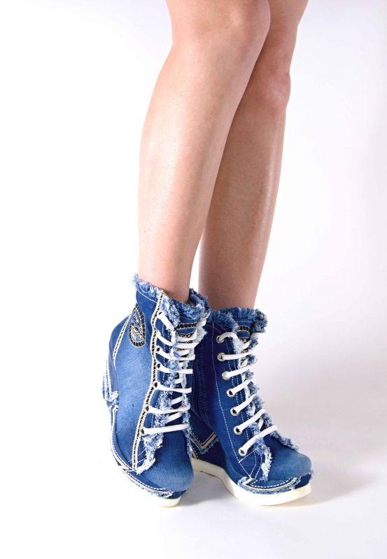 kožená a atestovaná obuv Riflové kotníkové botky 2074 Starbluemoon