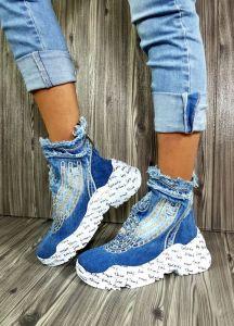 Riflové kotníkové Sneakersi