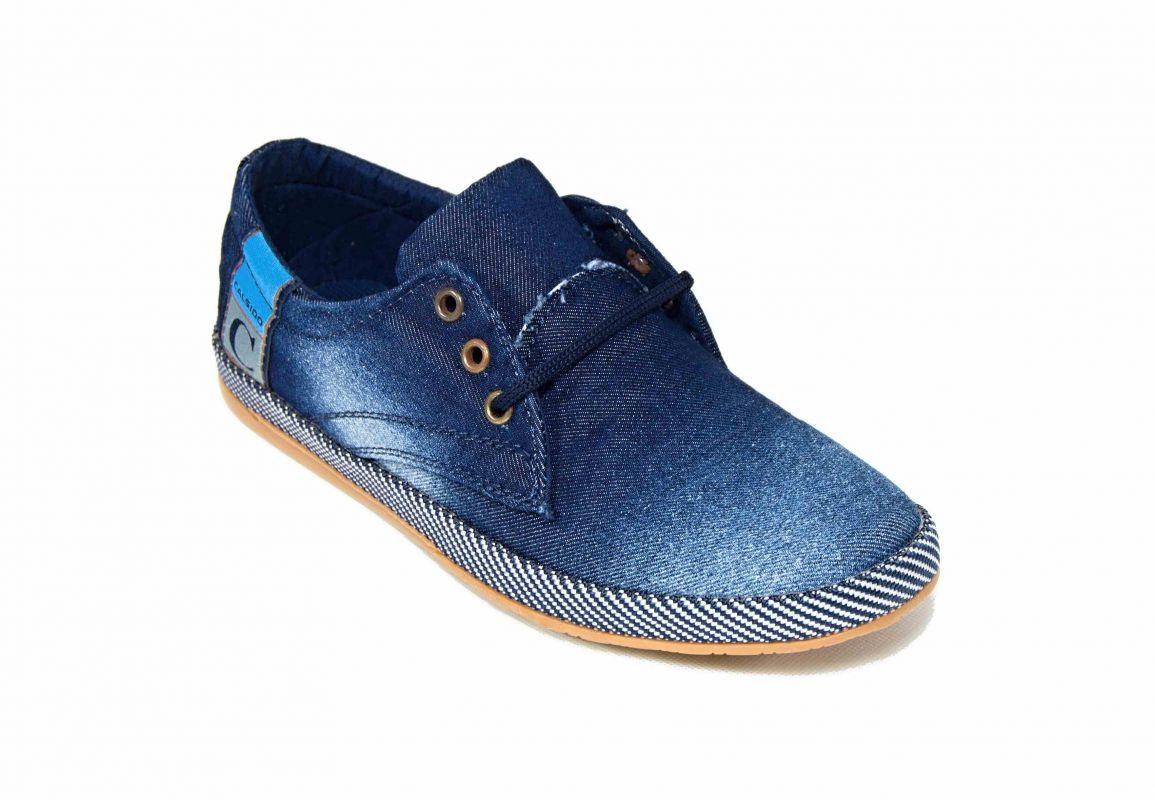kožená a atestovaná obuv Riflové pánské tenisky 2285-2 Calsido